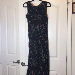 Mlle Gabrielle Long Maxi Dress Black Floral